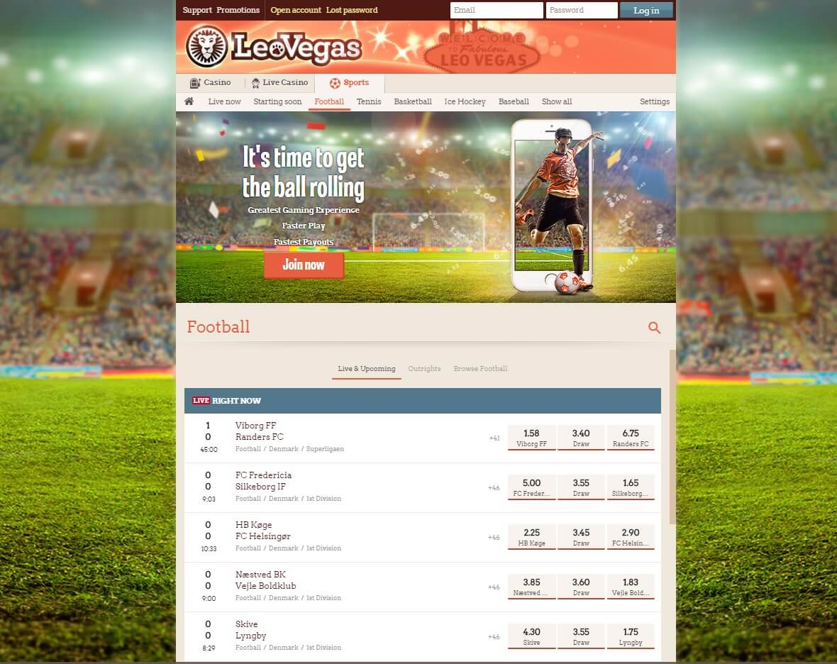 leovegas sport betting